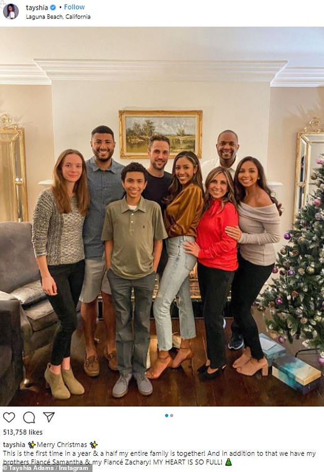 First Christmas together: The former phlebotologist shared photos from their celebration of Christmas with her family on Instagram