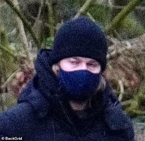 Accessory: Joe chose a dark blue face cover