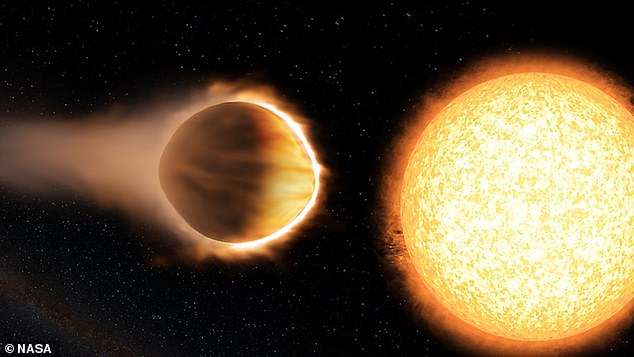 The planet is estimated to be about the size of Jupiter, but about 10 times lighter