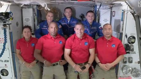 It's a full house on the International Space Station with 7 people - and Baby Yoda