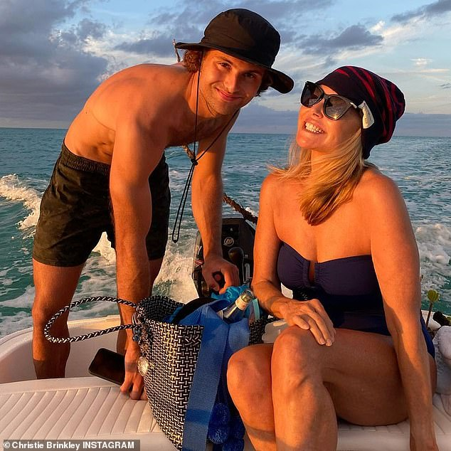 My Mom is proud: She's been sharing some wonderful moments from her family journey, with her daughter Sailor Lee, 22, boyfriend Ben Sawsan, son Jacques Paris, 25, and girlfriend Nina Agdal, 28.