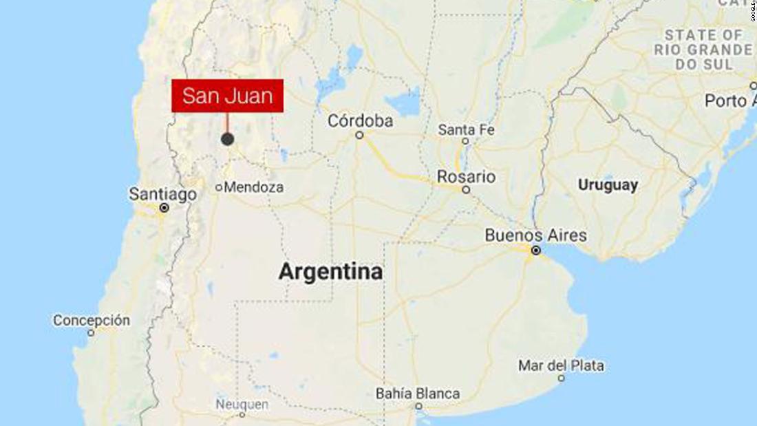 Argentina earthquake: 6.4 earthquake strikes San Juan Province, no tsunami warning issued