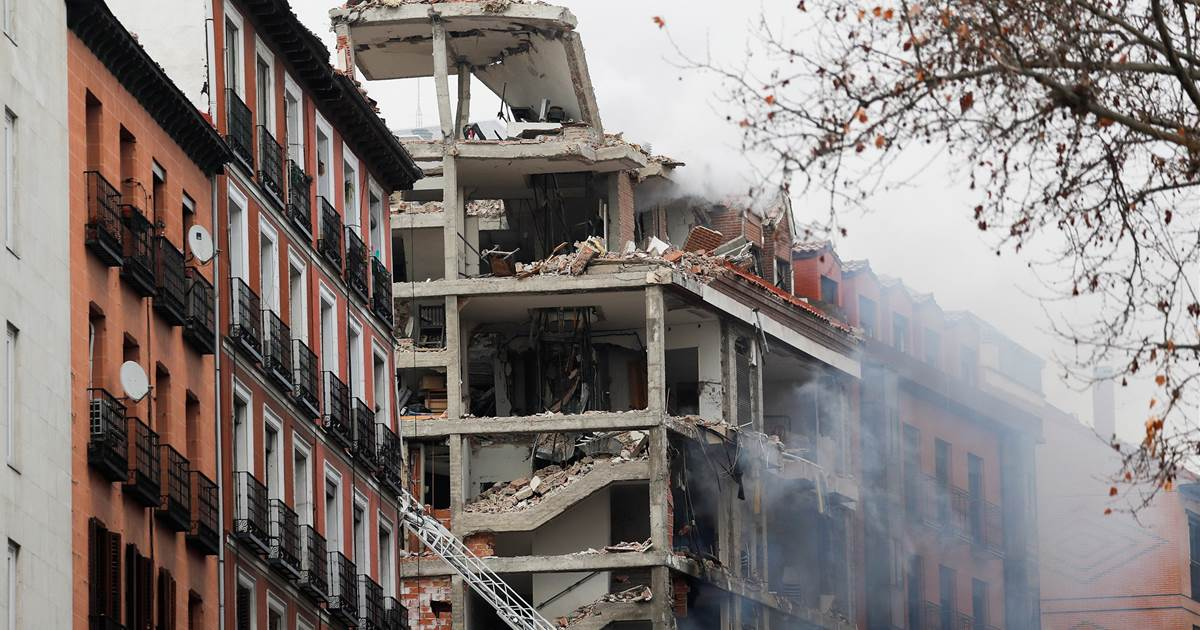At least three people were killed in an explosion in a building in Madrid
