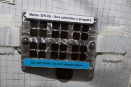 This spot on the International Space Station has stayed dirty - for science