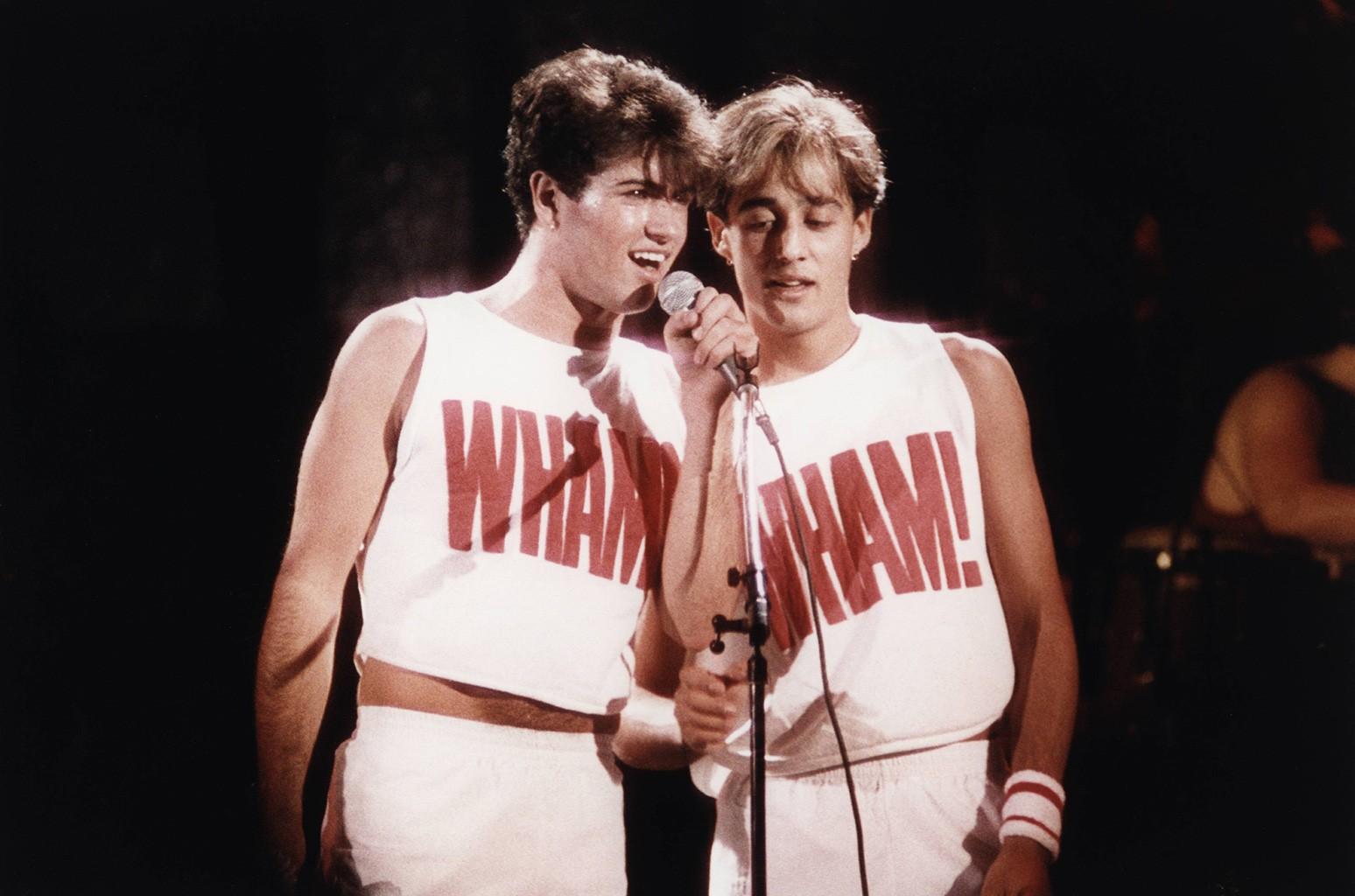 George Michael & Andrew Ridgeley of WHAM!